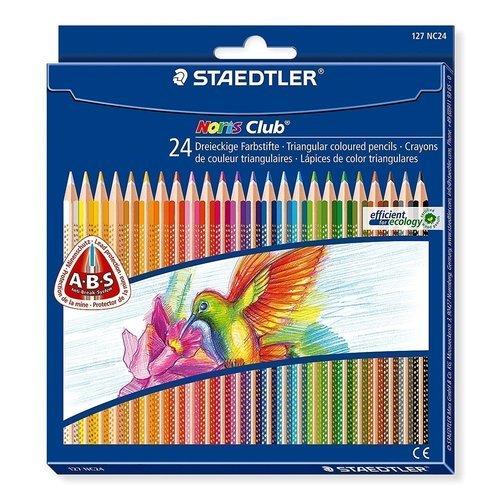 Карандаши цветные трехгранные Noris Club, 24 цвета ручки и карандаши baramba треугольные в картонной коробке 13шт вкладыш раскраска