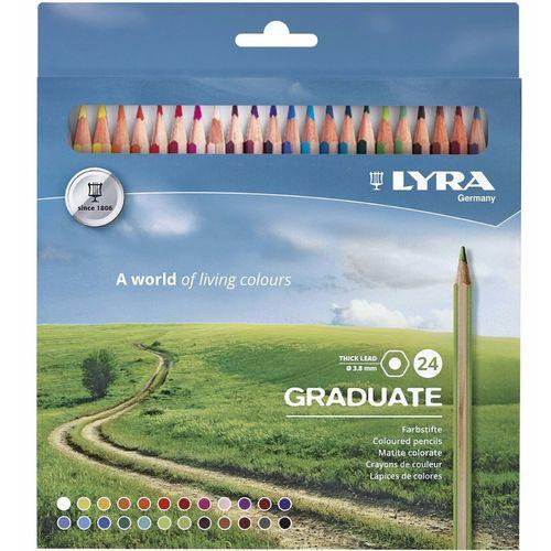 Гексагональные цветные карандаши Graduate, 24 цвета цветные карандаши stabilo aquacolor 24 цвета
