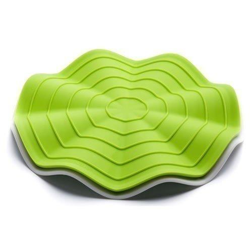 Фото - Прихватка-подставка под горячее Wave, зеленая / белая подставка