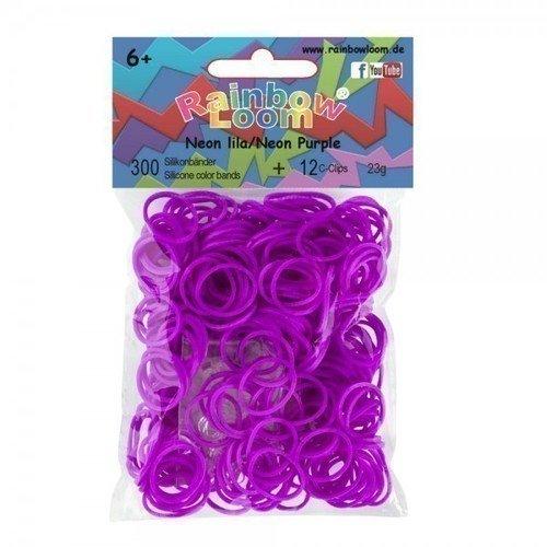 Резиночки для плетения силиконовые Neon Purple, фиолетовые цена