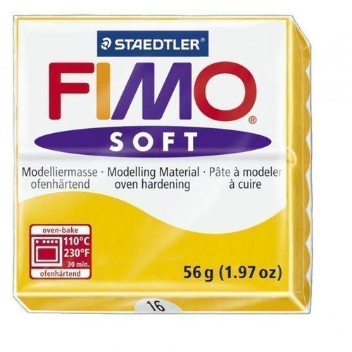 Полимерная глина Soft, запекаемая в печке, 56 гр, желтый fimo effect полимерная глина 56 гр цвет синий металлик 8020 302