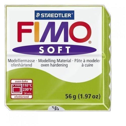 Глина полимерная Soft, запекаемая, 56 гр, зеленое яблоко fimo effect полимерная глина 56 гр цвет синий металлик 8020 302