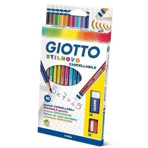 """Карандаши цветные """"Stilnovo"""", 10 цветов + ластик пластиковая точилка"""