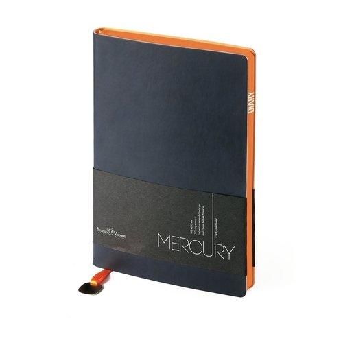 Фото - Ежедневник недатированный Mercury А5 темно-синий ежедневник недатированный mercury сиреневый а5
