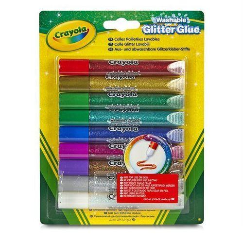 Клей с блестками, 9 цветов клей с блестками crayola 69 3527
