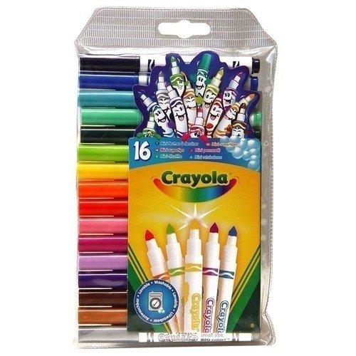 Набор смываемых мини-фломастеров, 16 цветов crayola 16 смываемых треугольных восковых мелков crayola