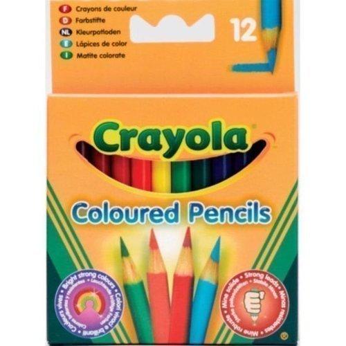 12 коротких цветных карандашей crayola набор для творчества 40 выкручивающихся цветных карандашей crayola