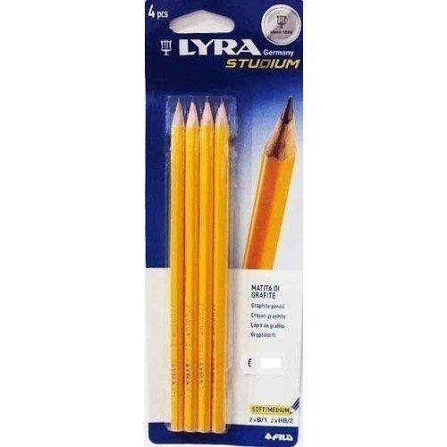 купить Чернографитные карандаши, 4 шт. по цене 150 рублей