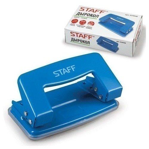 Дырокол STAFF металлический, синий