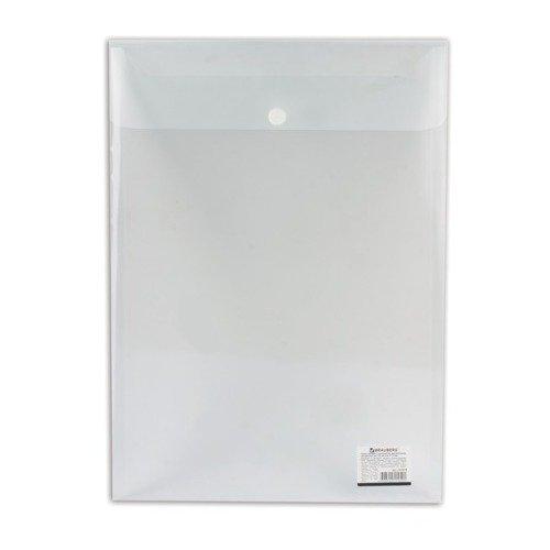 Папка-конверт с кнопкой А4, вертикальная, прозрачная папка конверт с кнопкой а4 прозрачная плотная синяя