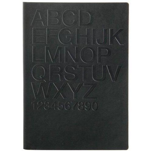 """Блокнот """"Tai Black/Helvetica"""" А5, 88 листов, в линейку черный"""
