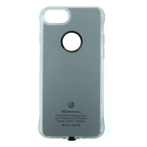 Чехол для беспроводной зарядки GZ-AC iPhone 7 Silver Grey upvel uq ci5 stingray для iphone 5 5s black чехол приемник для беспроводной зарядки стандарта qi
