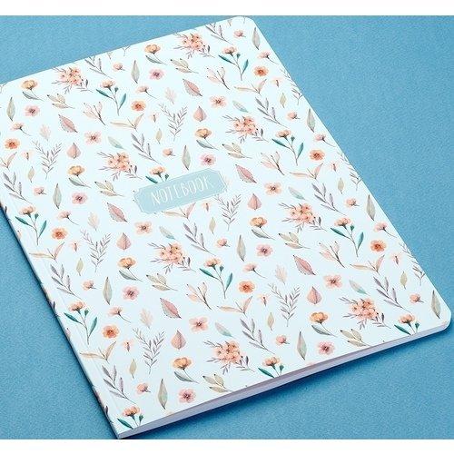 Тетрадь в клетку BLUE FLOWERS А4 тетрадь paris а4 30 листов в клетку 90 г м2