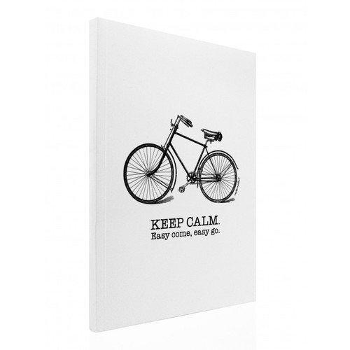 """Блокнот """"Велосипед"""" А4, 80 листов, в линейку, белый недорго, оригинальная цена"""