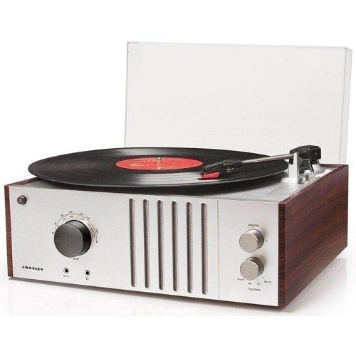 Виниловый проигрыватель Player FM-AM CR6017A-MA, красное дерево виниловый проигрыватель clearaudio concept mm s black black