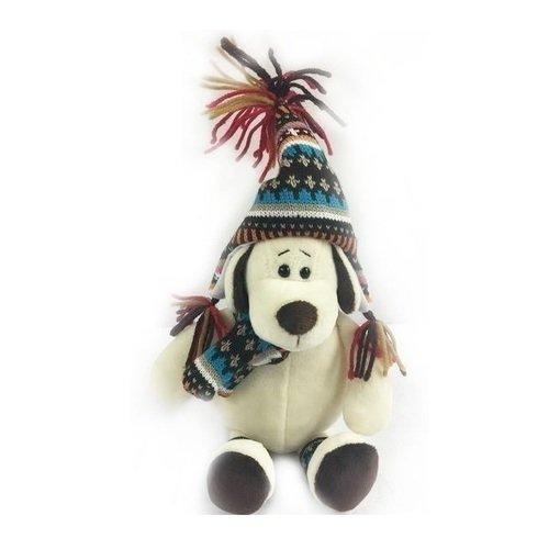 Купить Мягкая игрушка Собака в шапке , 18 см, Abtoys, Мягкие игрушки