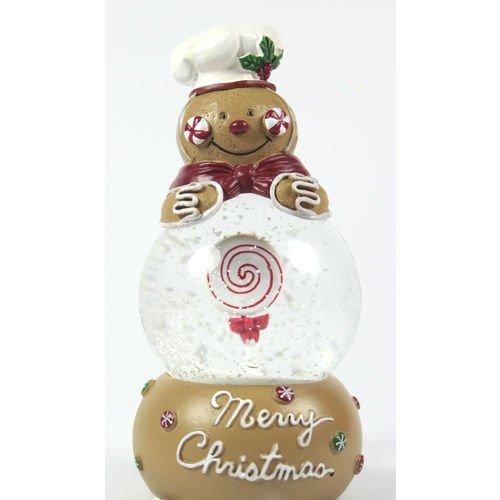 """Снежный шар """"Имбирный человечек"""", 6 см снежный бал раскраска с волшебным блеском"""