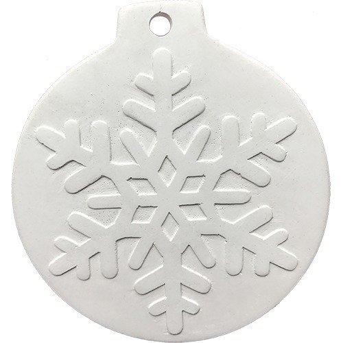 Фото - Барельеф для творчества Шарик-снежинка Снежа, 8 х 10 см наборы для творчества фантазер игрушка из гипса снежинка 2