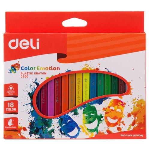 Восковые мелки EC20010 Color Emotion трехгранные 18 цветов карандаши восковые мелки пастель berlingo мелки восковые рыбки 18 цветов
