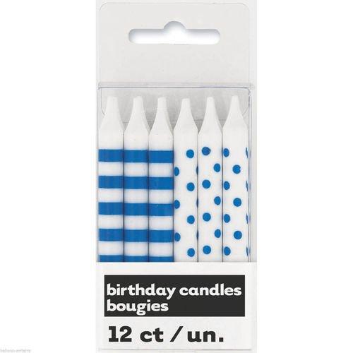 Набор свечей, голубой набор свечей омский cвечной завод цвет оранжевый высота 24 см 10 шт