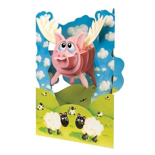 Объемная открытка Хрюшка открытка printio хрюшка