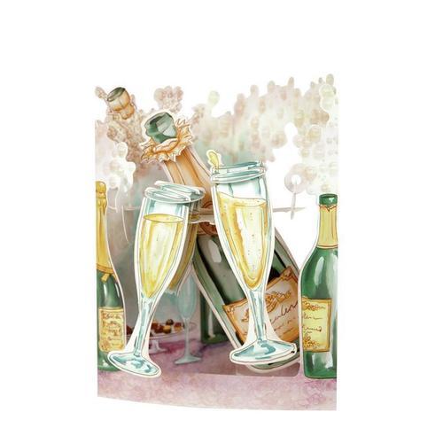 """Объемная открытка """"Шампанское"""""""