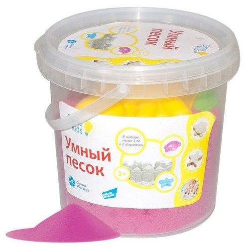 Набор для детского творчества Умный песок розовый цена