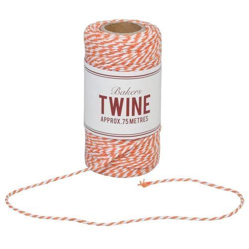 Нить хлопковая Bakers Twine, orange and white, 75 м teak house свеча twine 10 wood