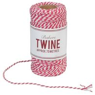 Нить хлопковая Cerise and white bakers twine