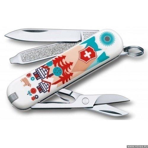 Нож перочинный Classic LE2015 Swiss Village подарок юноше на 16 лет