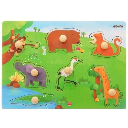 Рамка-вкладыш Дикие Животные trefl классические пазлы для малышей дикие животные 1 от 2 лет