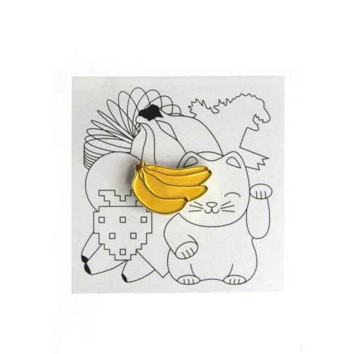 """Значок металлический """"Бананы"""""""
