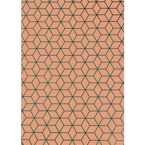 Упаковочная бумага персиковая упаковочная бумага 70 х 100 см зеленая
