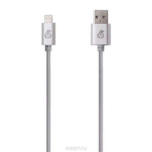 """USB-кабель """"Lightning"""" серый ubear кабель юсб светло голубой dc02lb01 i4"""