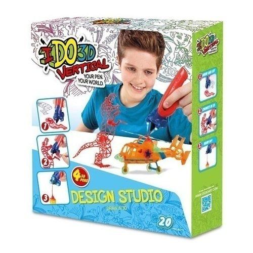 """3D ручка """"Вертикаль"""" Дикие забавы 155237W, оранжевая/зеленая/синяя/красная, 4 шт."""
