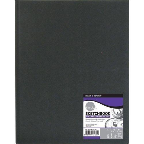 """Скетчбук """"Simply"""", 110 листов, 100 г/м2, 8,5 х 11 см"""