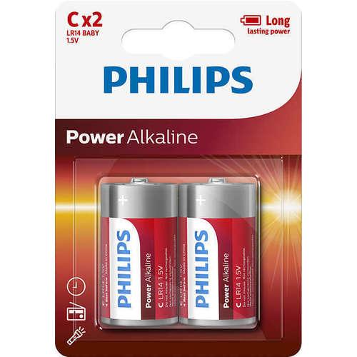 Батарейки щелочные Power Alkaline LR14P2B/10 (С), 2 шт.