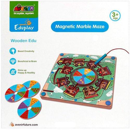 Купить Развивающая игра Деревянный лабиринт с магнитными шариками , Avenir, Развлекательные и развивающие игрушки