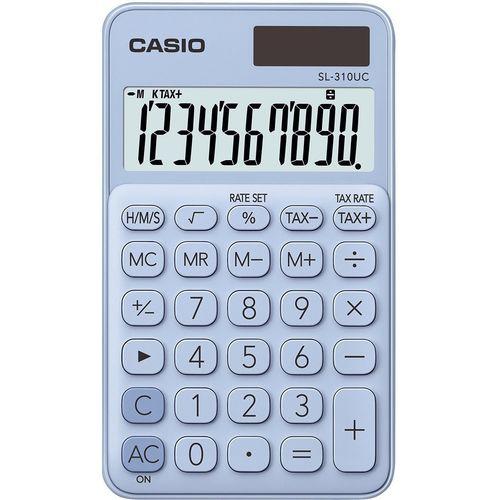 Калькулятор карманный Casio светло-голубой