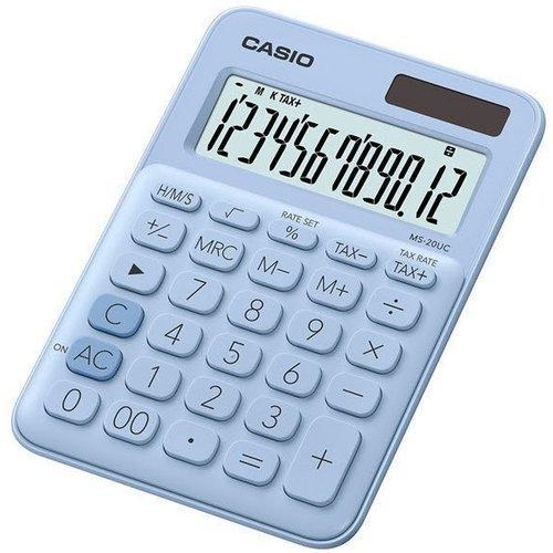 Калькулятор настольный Casio светло-голубой калькулятор casio ms 20uc lb s ec 12 разрядный светло голубой