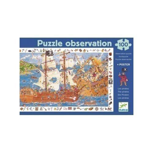 Пазл и игра на на наблюдательность Пираты, 100 элементов пазл и игра пираты djeco пазл и игра пираты
