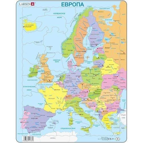 Купить Пазл Европа , 37 элементов, Larsen, Пазлы