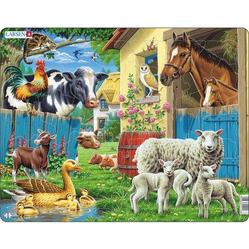 Пазл Животные фермы, 23 элемента