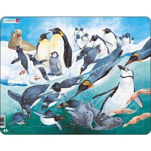 Пазл Пингвины, 50 элементов larsen пазл арктика 50 деталей larsen