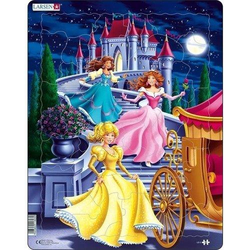 Купить Пазл Принцессы , 35 элементов, Larsen, Пазлы