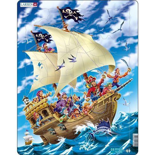 Купить Пазл Пираты , 30 элементов, Larsen, Пазлы