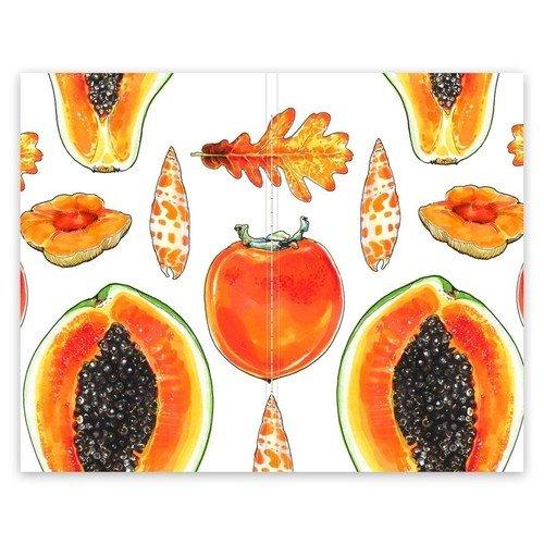 """Скетчбук """"Pocket Fox&Owl"""" A6, 32 л, 100 г/м2, orange, на нитке"""