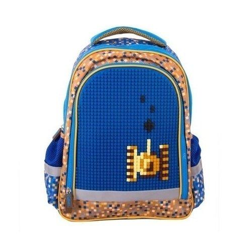 Школьный рюкзак с пикси-дотами, синий