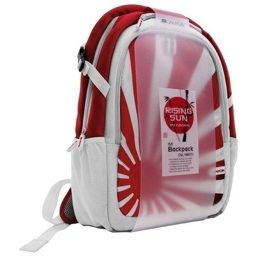 "Рюкзак для ноутбука 15.6"" CNL-NB07J, White/Red"