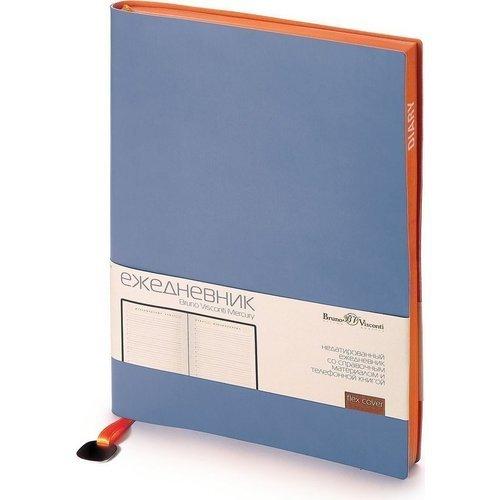 Фото - Ежедневник недатированный Mercury А5, 272 стр., синий ежедневник недатированный mercury сиреневый а5